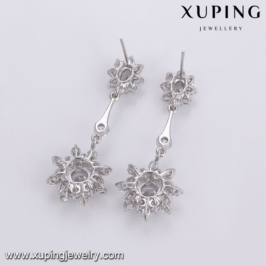 Fashion Luxury Flower Zircon Jewelry Earring for Wedding or Party