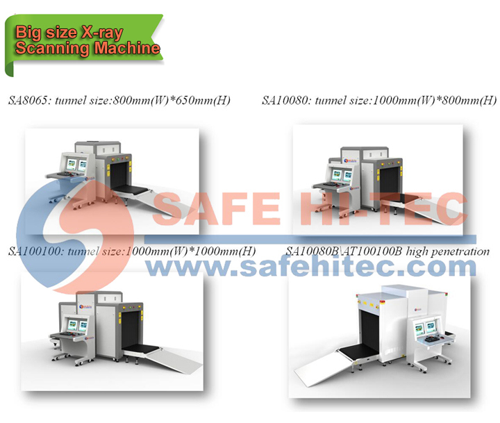 Security Cargo X-ray Screening Equipment with Big Tunnel Size (SA100100)