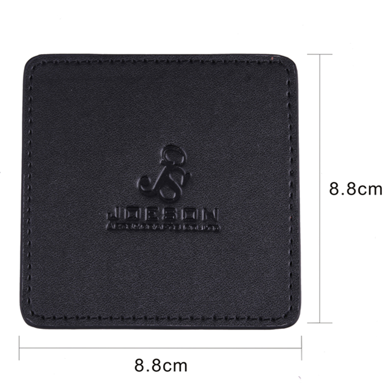 Waterproof PU Leather Black Square Tea Cup Coaster