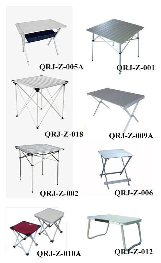 Quality Aluminum Lightweight Sporting Picnic Outdoor Foldable Table (QRJ-Y-013)