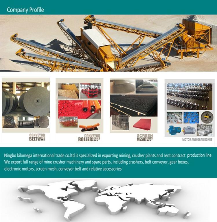 Heavy Duty Rubber Conveyor Belt in Crusher
