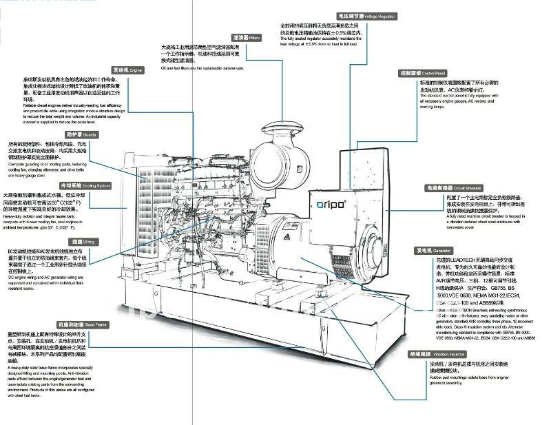 China Brand Sdec Shangchai Power Diesel Generator Set With