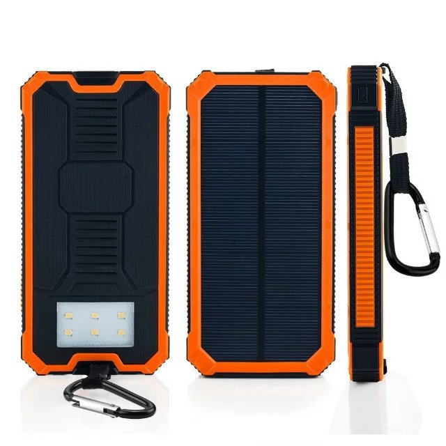Phone Accessories Dual-USB 8000mAh Solar Panel Power Bank (SC-1788)