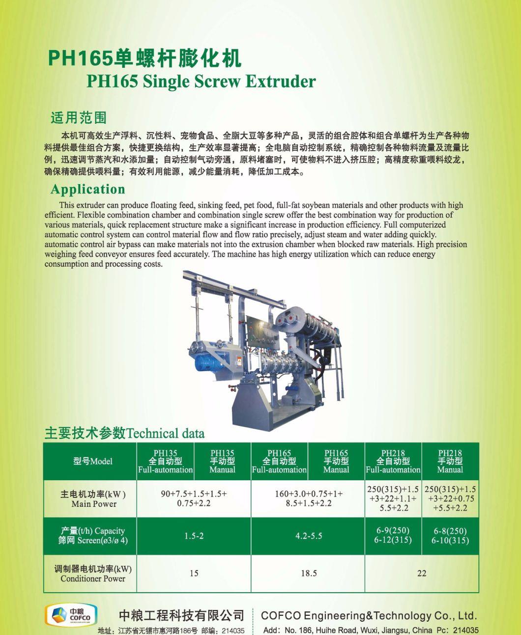 Cofcoet pH Single Screw Extruder