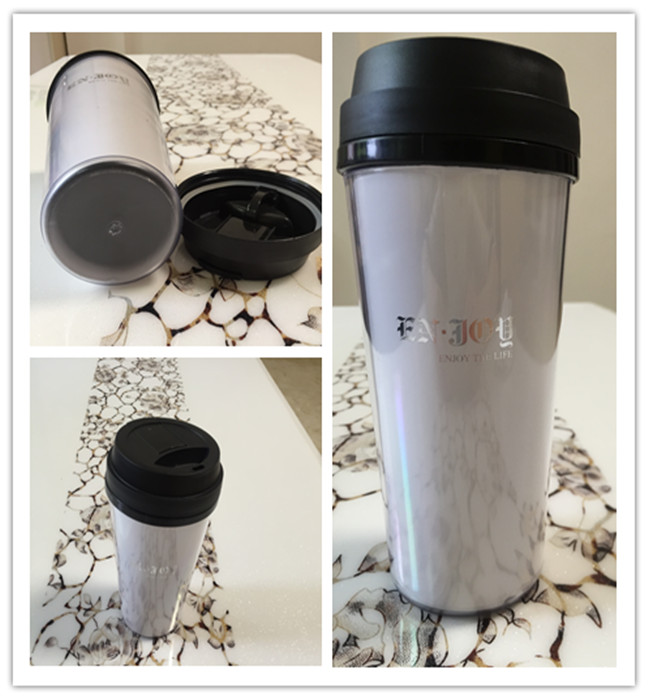 Food Grade 12oz, 16oz, 20oz PP Reusable Plastic Tumbler with Lip