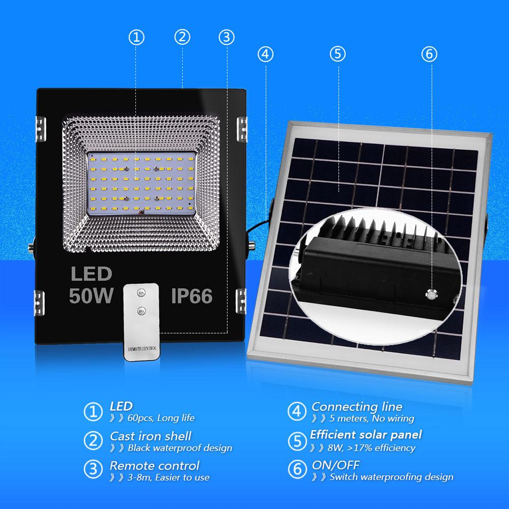 LED Garden Street Road 50W Solar Power Light