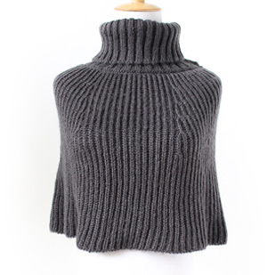 Womens Scarf Sweater Cardigan Wraps Winter Knitted Poncho Shawl (SP606)