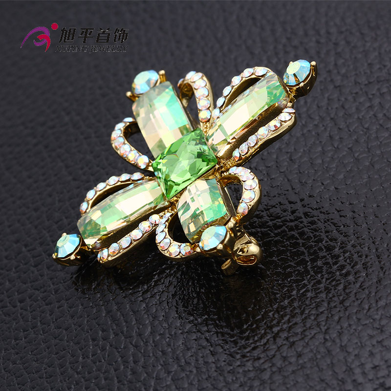 Xuping Fashion Luxury Rhodium Crystals From Swarovski Rhinestone Flower Jewelry Element Brooch - X0421006