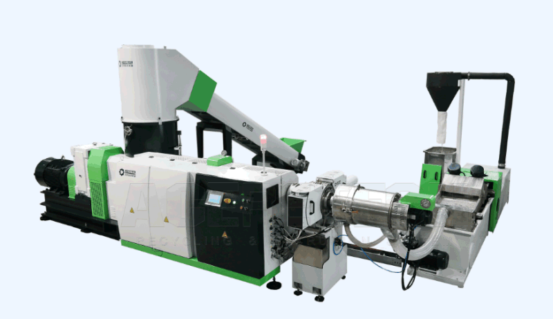 Waste Pet Fiber Pelletizing Line / Polyester Fiber Granulator