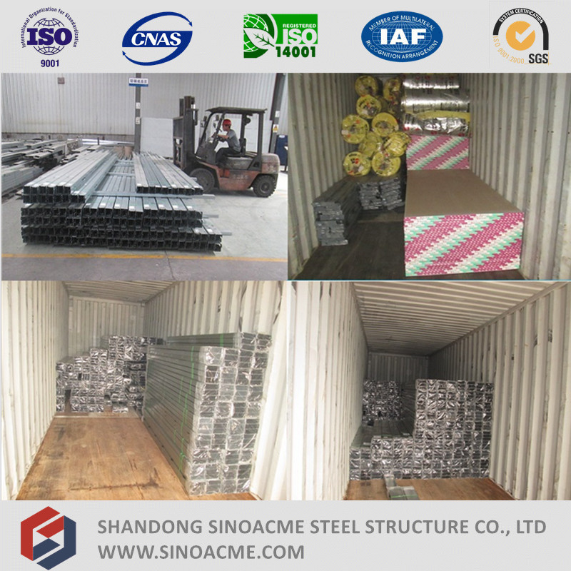 Prefabricated Light Steel Structure Townhouse
