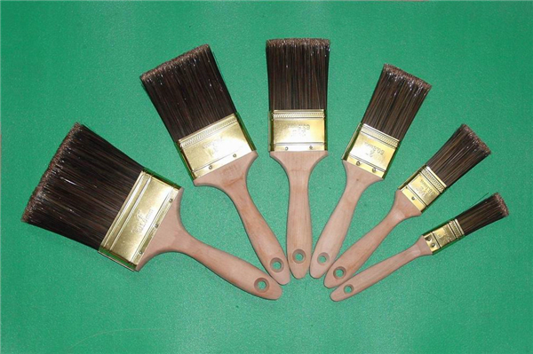 (SHSY-0402) Pet Filament Beavertail Plain Wooden Handle Paint Brush
