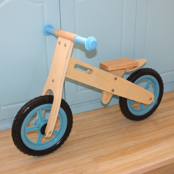 Baby Toy, Blue Children Kid's Wooden Balance Bike, En 71 and CE Certified