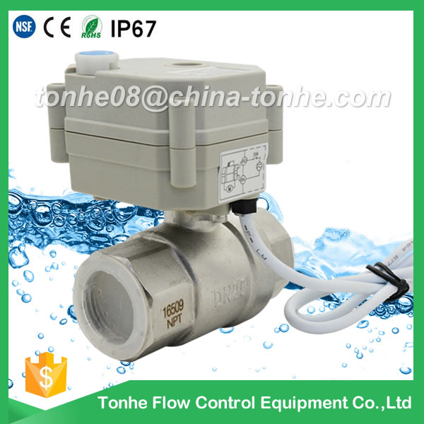 Dn25mm NSF61 Stainless Steel Motor Electric Ball Motorized Valve 36