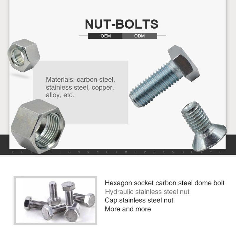 Grade 8.8 Nylon Lock Flange Nut with DIN6926 Standard