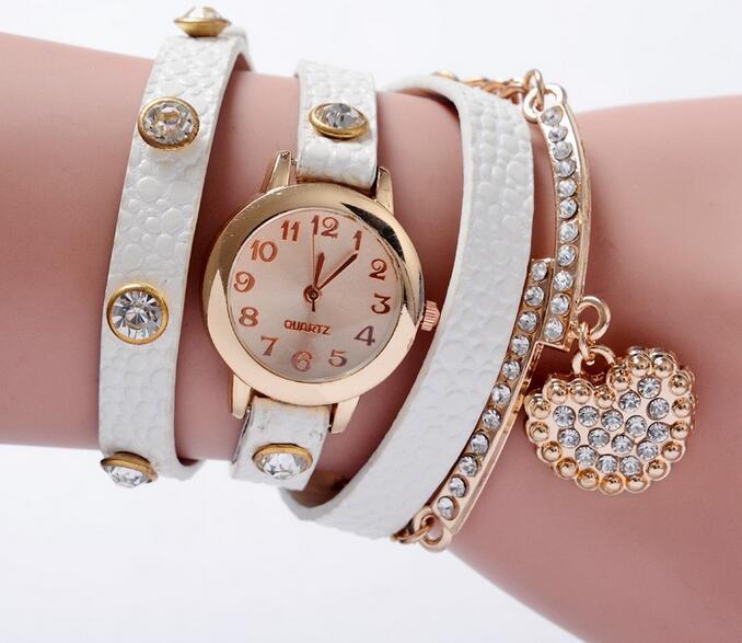 Yxl-399 Drop Shipping Vintage Reloj De Pulsera Watches Women Leather Strap Hot Sell Bracelet Wrist Watch Ladies Quartz Weave Bracelet Watch