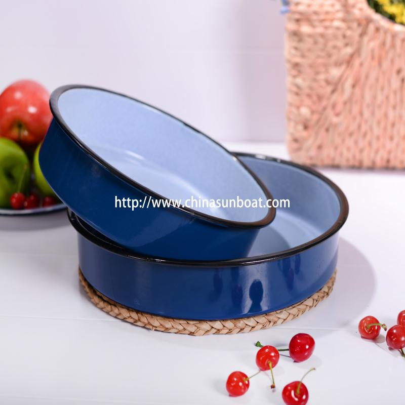 Enamel Round Tray/Food Tray/Sunboat Kitchenware/Tableware