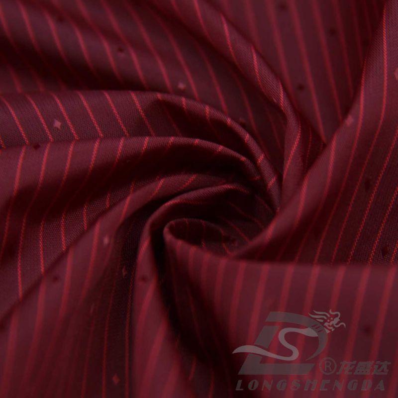 Water & Wind-Resistant Down Jacket Woven Dobby Diamond DOT & Striped Jacquard 8% Polyester+ 92% Nylon Blend-Weaving Intertexture Fabric (H050)