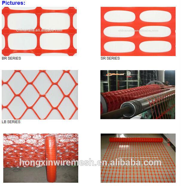 Orange barrier fence