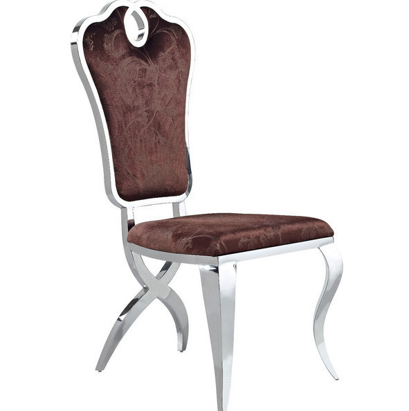 Elegant Furniture Modern Dining Room Leather Stainless Steel Dining Chair