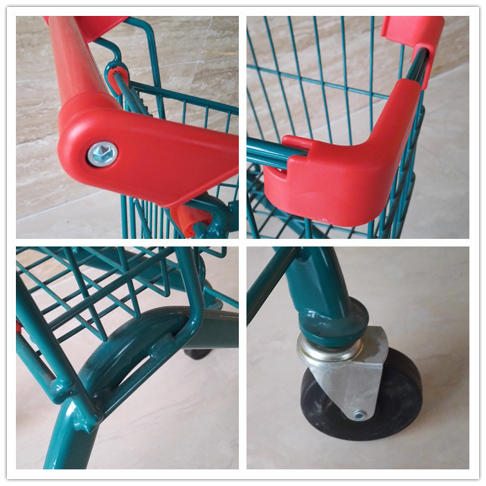 Colourful Kids Shopping Trolley with Metal Frame