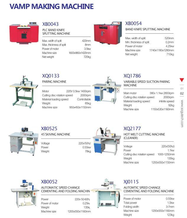 Xb0237 Electronic Digital Display Round Kinfe Leather Skiving Machine; Safety Shoe Machine