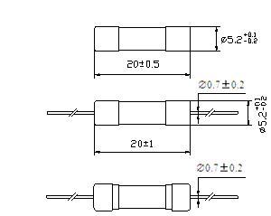 Ceramic Tube Fuse High-Breaking 125V/250V 210 (H)