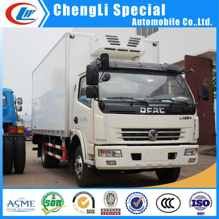 4X2 Refrigerated Delivery Van 5tons Small Refrigerator Body Truck