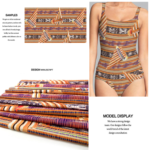 High-Stretch Digital Printed New Pattern Knit Fabric for Swimwear