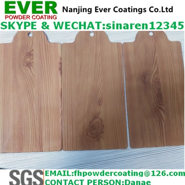 Wood Grain Effect Powder Coating for Metal Door and Aluminum Window