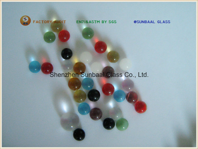 Small Colorful Glass Ball and Solid Glass Beads