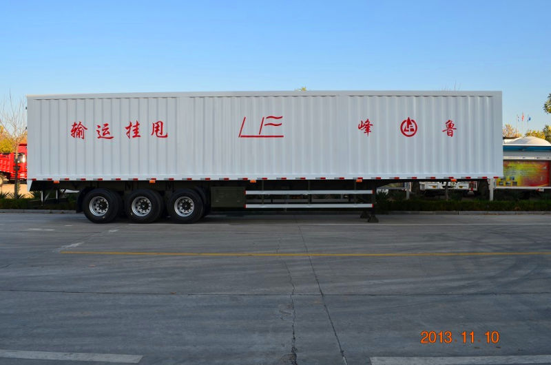 High Quality Cimc/Lufeng Cargo Van Semi Trailer for Sale