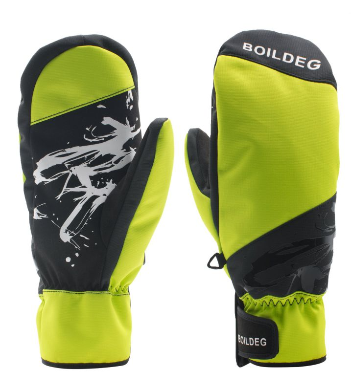 Pocket Design Goat Leather Gloves Winter Sports Ski Gloves