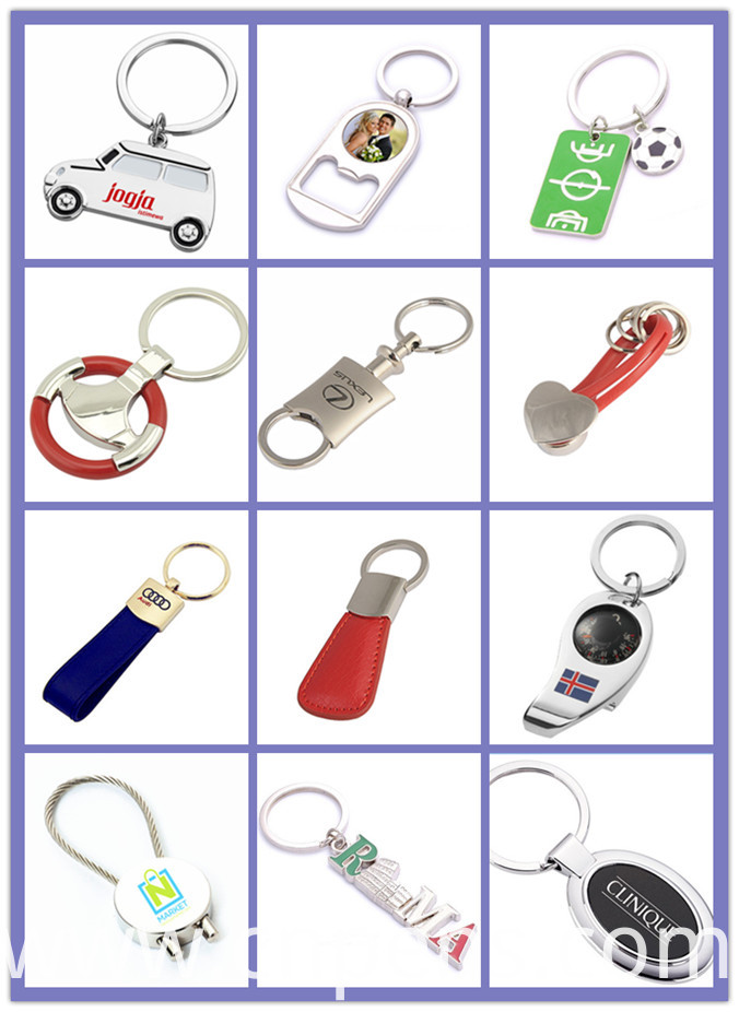 Blue Cheap Oval Give Away Gifts Keychain with Rubber (F1037A)