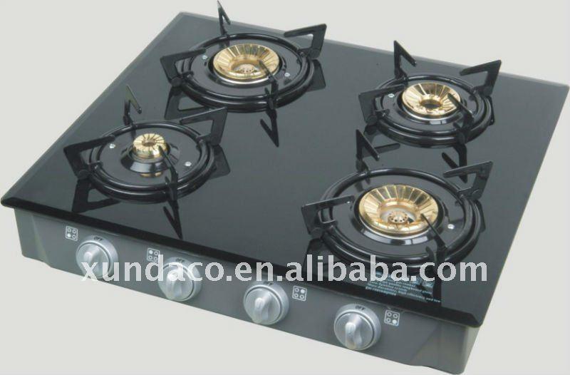 4 Burner Glass Top Gas Stove