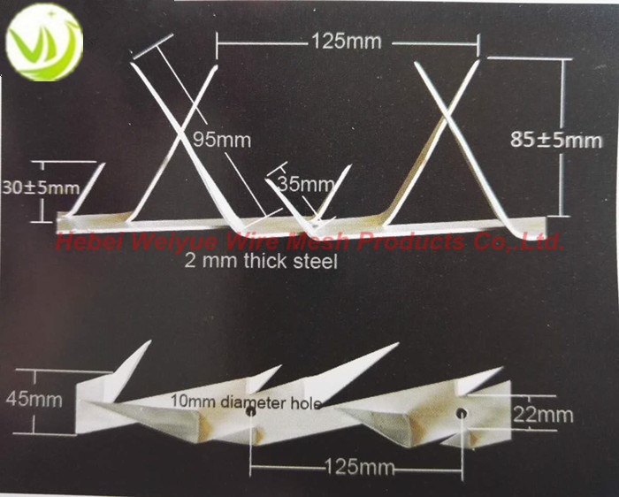 Stainless Steel 1.25m Galvanized Security Wall Spike for House