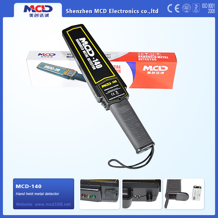 Hand Held Metal Detector High Sensitivity Portable Metal Scanner Detector (MCD-140)