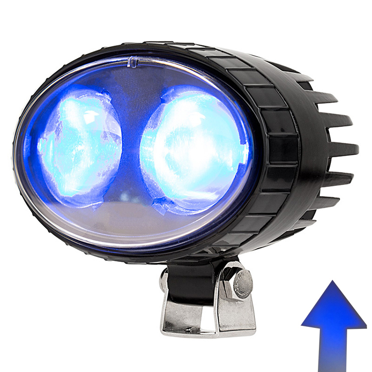 Forklift Accessories Auto LED Lamp 5.5 Inch 10W Blue Red LED Forklift Safety Lights with Arrow Beams