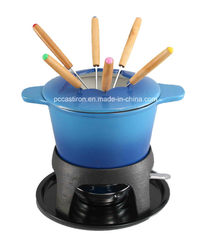 Euopean Popular Cast Iron Cookware Fondue Set