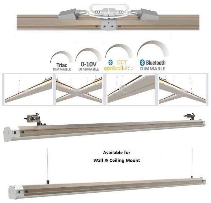 Dimmable 1FT/10W--1.5FT/15W--2FT/20W--3FT/30W--4FT/35W--4FT&5FT/45W--5FT/50W 1000~5000lm LED Office Linear Light with ETL/cETL