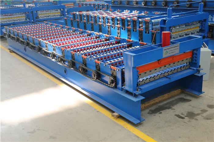 Rollo de hojas corrugadas de PPGI / Gi de corrugado largo formando maquinaria