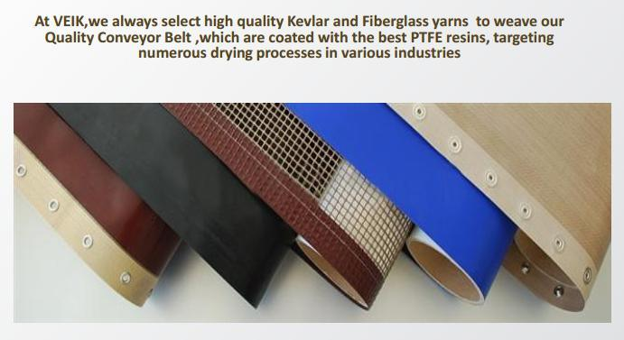 Heat Resistant Material PTFE Fiberglass Conveyor Mesh Belt