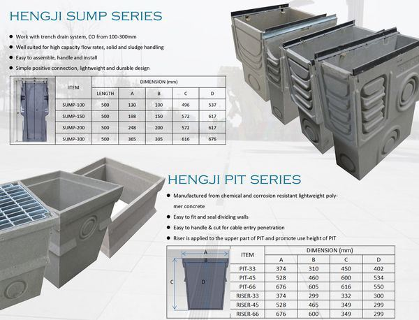 Hot Sale Plastic Linear Drain with Galvanized Grating