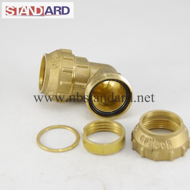 Brass Female Tee PE Fitting