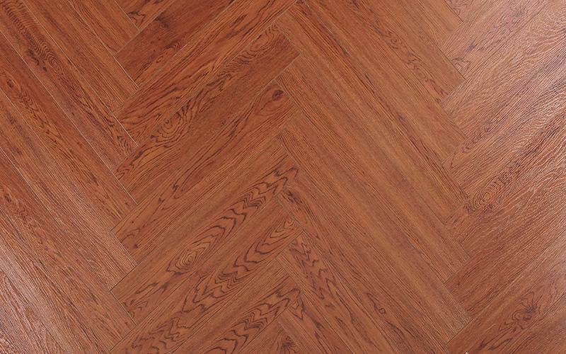 12.3mm HDF Vinyl V-Grooved Parquet Laminate Laminated Wood Flooring