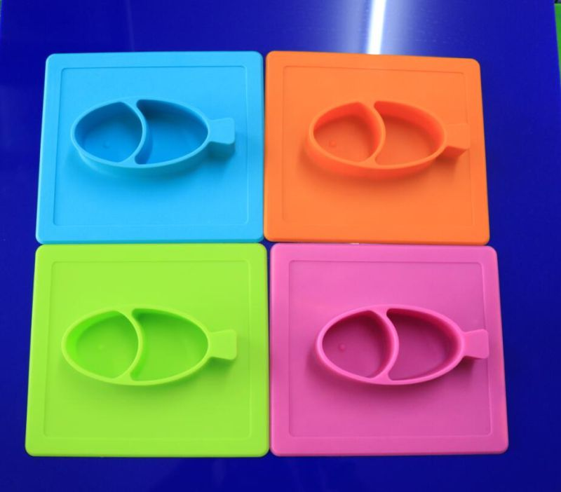 Square Skid-Proof Kids Meal Silicone Placemats