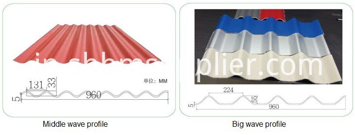 Insulated colored plastic roof sheet