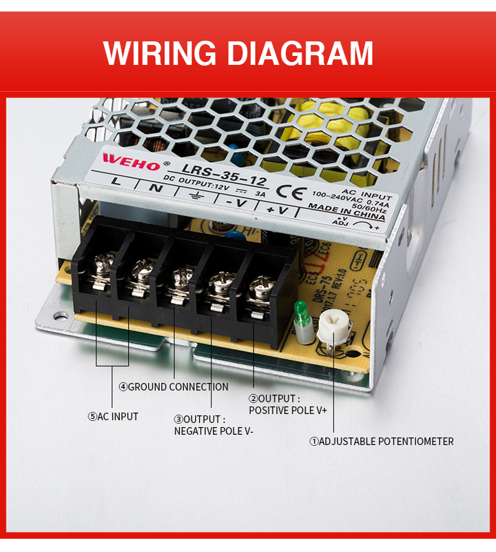 Ultra Thin 35W 12V AC/DC Switching Power Supply