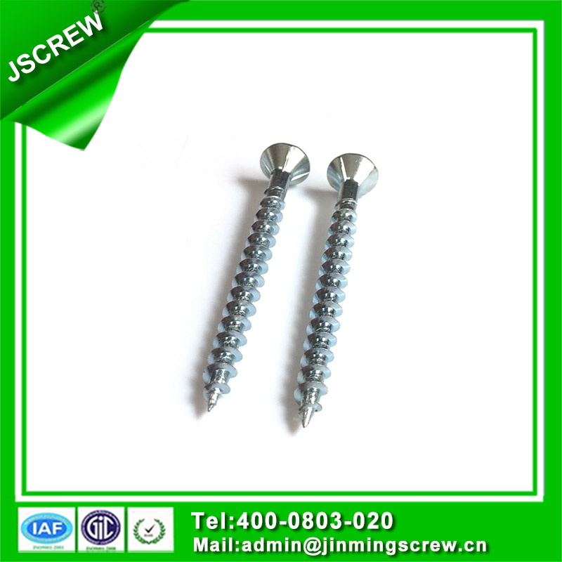M3.5 Blue Zinc Square Drive Flat Head Self Tapping Screw