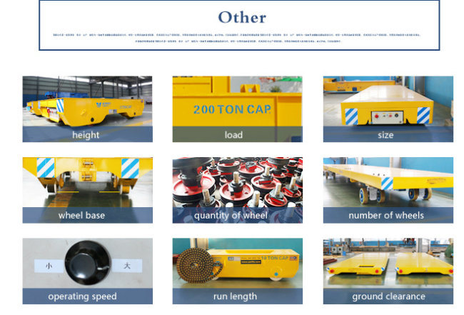 Motor Rail Guided Handling System Machine Parts Transfer Trolley