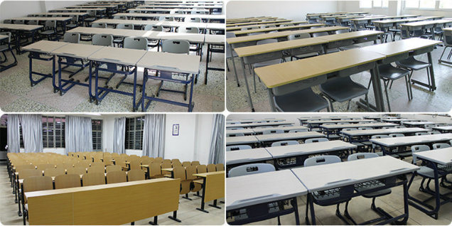 Customized College Students Reading Desk and Chair for School (Adjustable aluminuim)